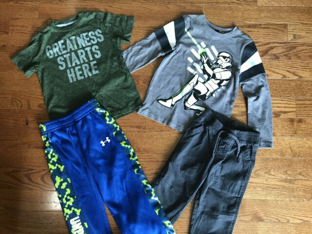 Boys Size 5 Under Armour Shirts Tops Pants Old Navy Sonoma Kids Clothing Lot