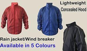 Zip Rain Jacket Waterproof Coat Top Hooded Hoodie Wind Stopper S-XXL