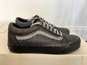 womens vans old skool glitter