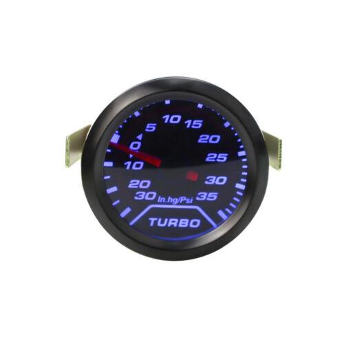 2/'/' 52mm Turbo Boost Gauge Digital Blue LED Pointer 35 Psi Pressure Meter 12V