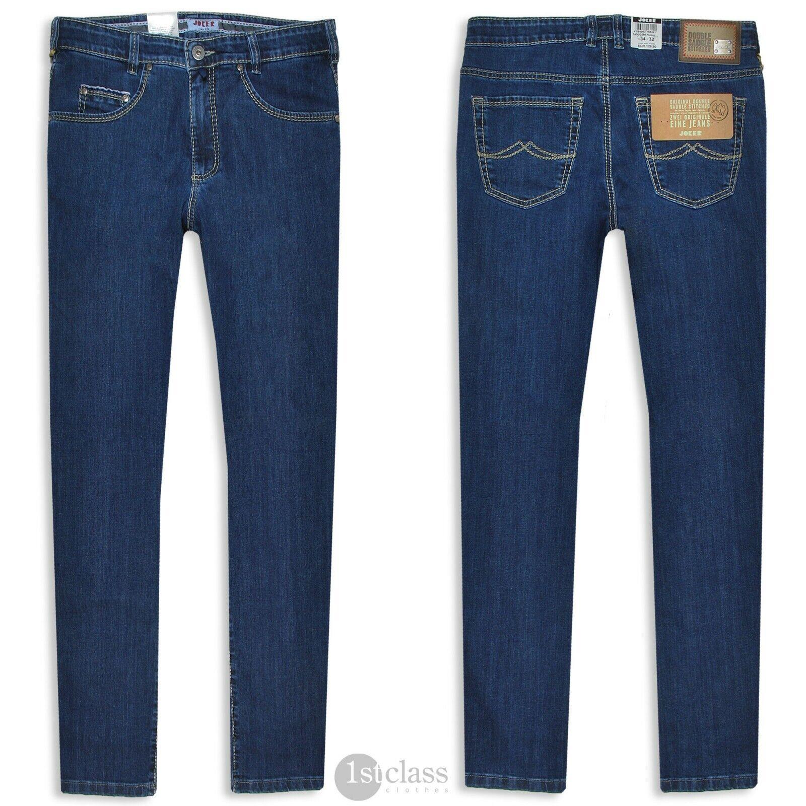 Joker Men's Jeans New (Comfort Tapered) 2400 0380 Navy bluee Kaihara Denim