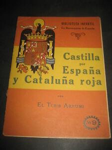 Castilla-per-Spain-and-Catalonia-Red-1940-1-Ed-Library-Kids-the-Reconqu