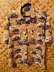 EXCLUSIVELY-FOR-SPORTSMAN-APPAREL-MOTORCYCLE-BIKE-THEME-HAWAIIAN-STYLE-SHIRT-XL