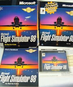 Microsoft Flight Simulator 98 Windows PC Game Big Box Disc