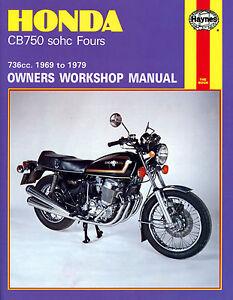 Haynes-Manual-0131-Honda-CB750-SOHC-Four-69-79-service-workshop-repair