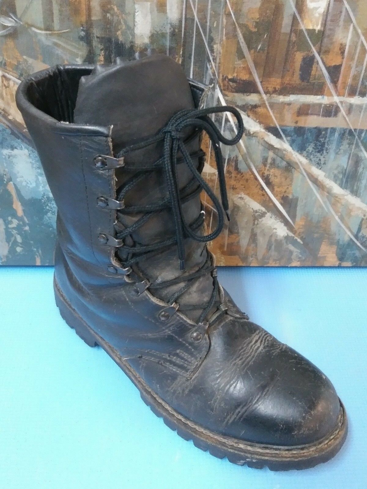 FUBKOMFORT black leather army work boots size 12.5