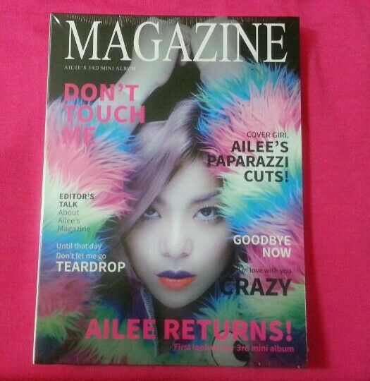 AILEE MAGAZINE 3rd mini album Don't Touch me : CD w/ booklet+Gift Photo Original