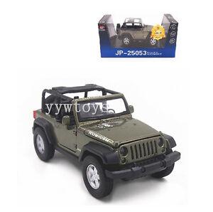 1 32 Open Jeep Wrangler Rubicon Sound Light Pullback Model Toy Car