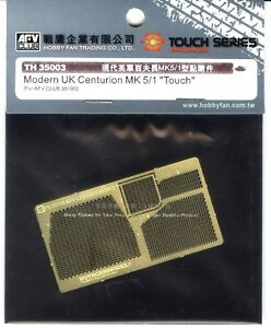 AFV-Club-1-35-TH35003-Photo-Etched-Parts-Set-for-UK-Centurion-MK-5-1-034-Touch-034