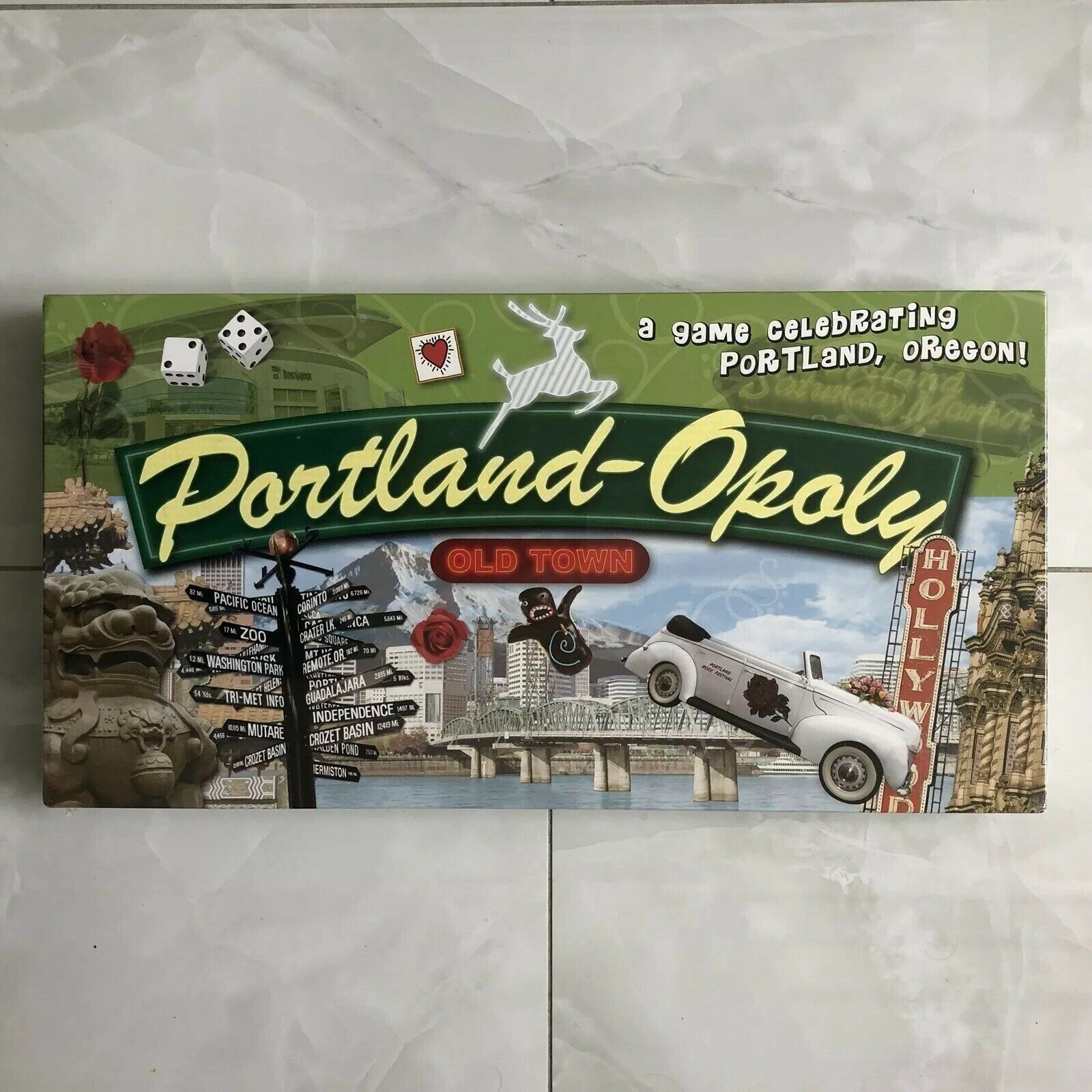Portland-Opoly Oregon Board Game from Late For the Sky Rare Brand New Sealed