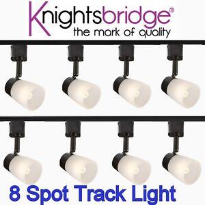 Details About Track Lighting 8 Spotlight G9 Base 240v Led Light Black Head 4m Single Circuit