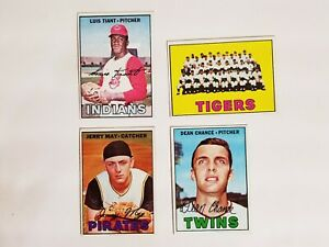 1967-TOPPS-BASEBALL-SET-BREAK-LUIS-TIANT-377-CLEVELAND-INDIANS-EX