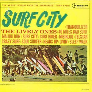 LIVELY-ONES-surf-city-U-S-DEL-FI-LP-DFLP-1237-orig-1963-RARE-SURF