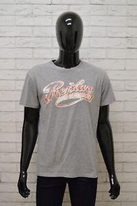 Maglia-REPLAY-Uomo-Taglia-Size-XL-Maglietta-Shirt-Man-Cotone-Manica-Corta-Grigio