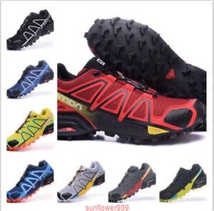 Detalles de Salomon Speedcross 4 hombre Al aire libre Excursionismo  Zapatillas deportivas