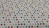 Fryetts Galaxy Blue Stars Curtain Craft Upholstery Designer Fabric