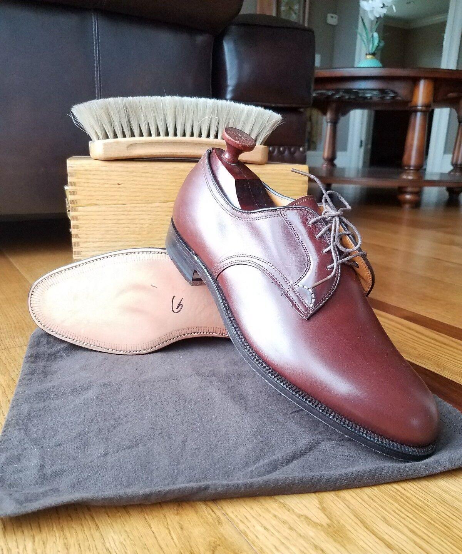 NOUVEAU  HOMME ALDEN Plain Toe en cuir marron Blücher Oxford Chaussure Taille 11 B D