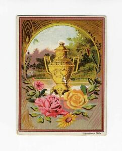 DILWORTH'S COFFEE Victorian Trade Card 1880's Large Gold Pot or Urn