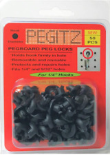 Pegboard Locks 50pcs 14 Inch Black Home Improvement Hooks Hardware Tools