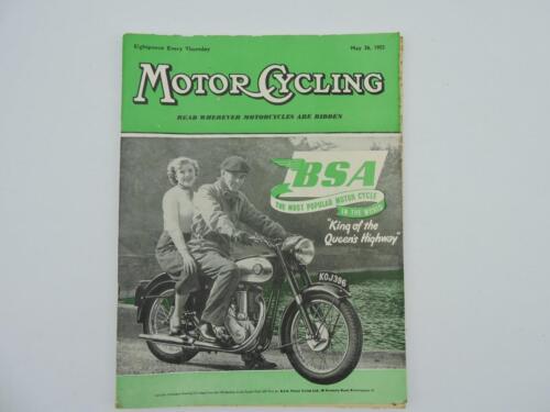 Vintage May 1955 Motorcycling Magazine BSA Triumph Norton AJS Matchless L8164