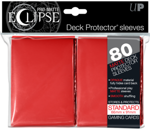 8x RED Ultra Pro Matte ECLIPSE Sleeves 80ct Packs (640 total) - NEW SEALED