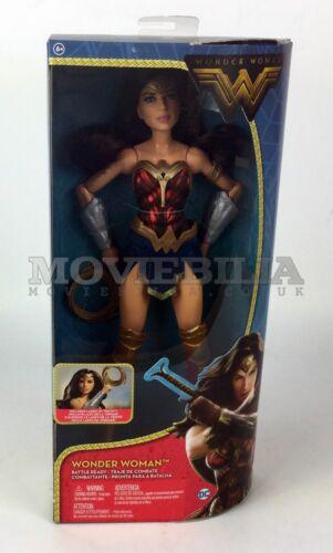 """Gal gadot Mattel Wonder Woman Film BATTAGLIA Ready 12/"""" Figura Bambola come nuovo in scatola"""