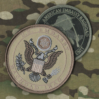 Other Militaria Iraqi Freedom Green Zone Club Med Us Embassy Baghdad Security Veicrọ Insignia And Digestion Helping Collectibles