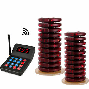 T119-Restaurant-Wireless-Queuing-System-1-Transmitter-20-Call-Coaster-Pagers-AU