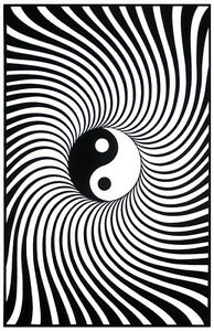 Yin yang blacklight poster peace black light poster for Decoration murale yin yang