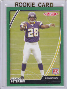 Details About Adrian Peterson Topps Total Rc Vikings 2007 Ap Rookie Card Minnesota Football Rb