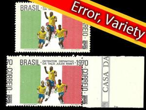 Coupe-du-monde-football-1970-Mi-environ-3170-41-km-1264-SN-1169-YT-937-Football-RARE-erreur