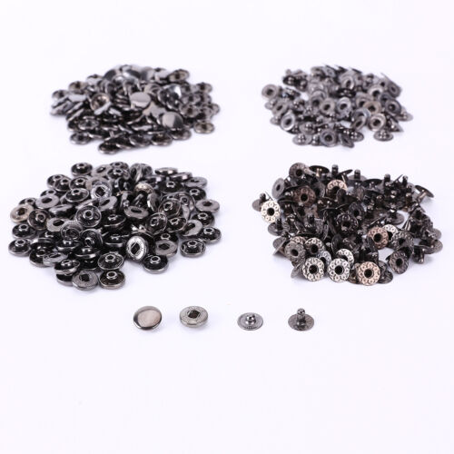 10-15mm 100 Set Press Studs Kit Snap Fasteners Poppers Buttons Sewing