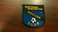 Vintage Northern Burlington NEW JERSEY soccer Club Patch sports COLLECTOR Rare
