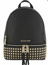 $ 360 NEW ! NWT MICHAEL KORS RHEA Studded Leather Backpack in Black/Gold