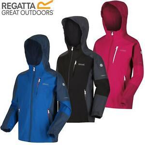 Regatta Kids Calderdale II Waterproof Hooded Zip Pocket Jacket Boy Girls Coat