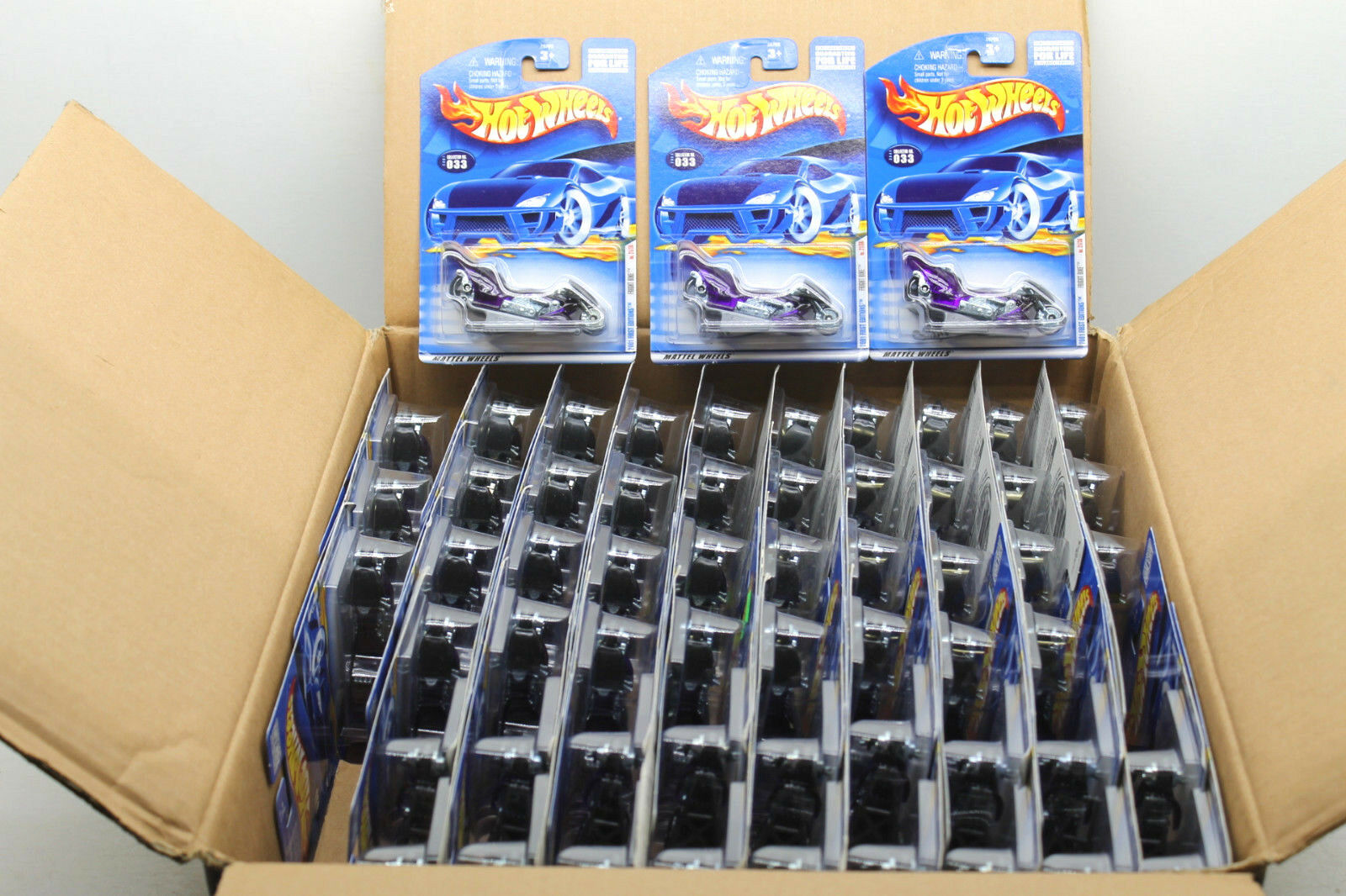 58pc 2001 Hot Wheels viola Fright Bike Motorcycle Mattel  033 Diecast Lot NOC