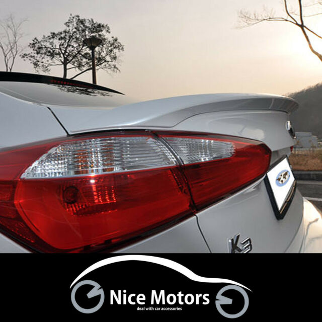 Rear Trunk Lip Wing Spoiler Painted For KIA Cerato Forte YD K3 2014 2015