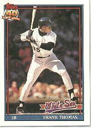 1991 Topps Frank Thomas 79 Baseball Card