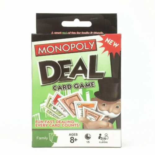 Family Game Monopoly Deal Card Game Funskool 2-5 Players Indoor Game Kids Age 8+