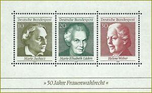 B.1 - BRD Bund Frauenwahlrecht 1969 Mi.596-598 Block5 postfrisch LUXUS!