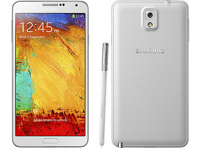 """Unlocked White 5.7"""" Samsung Galaxy Note 3 4G Android GSM Smartphone 32GB DHL"""