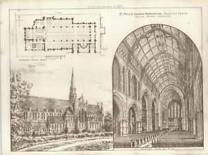 1887-St-Paul-039-s-Church-Kensington-Designed-By-Arthur-Baker-Floor-Plan-And-Views