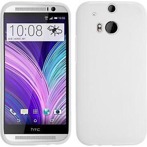 Silicone-Case-for-HTC-One-M8-matt-white-protective-foils