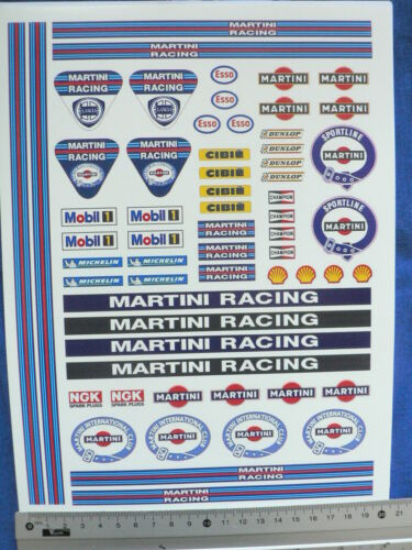 A4 sheet 2 Martini logos water transfer decals aufkleber set