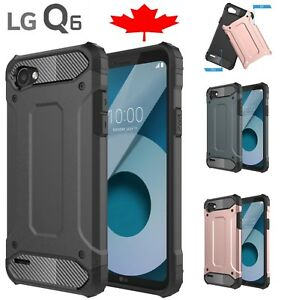 For-LG-Q6-Shockproof-Heavy-Duty-Armor-Dual-Layer-Hard-Cover-Case