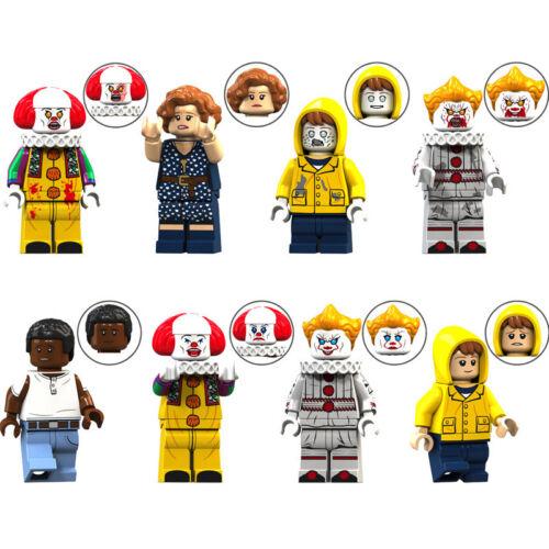 8PCS Schrecken Film It Bill Mike Beverly Kinder Mini Figur Bausteine Spielzeug