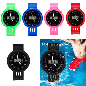 Watches Children Girls Analog Digital Sport Led Electronic Waterproof Wrist Watch New