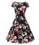 Women-1950s-60s-Vintage-Floral-Style-Rockabilly-Cocktail-Party-Swing-Tea-Dress miniatuur 6
