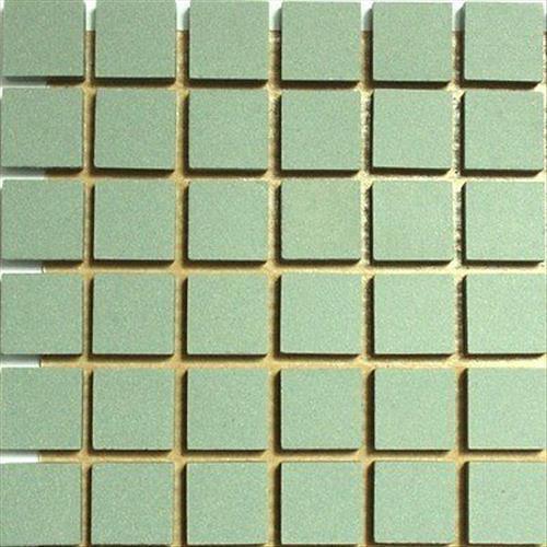 12mm Ceramic Unglazed Porcelain Mosaic Tiles Pale Green 121 Tile Pack
