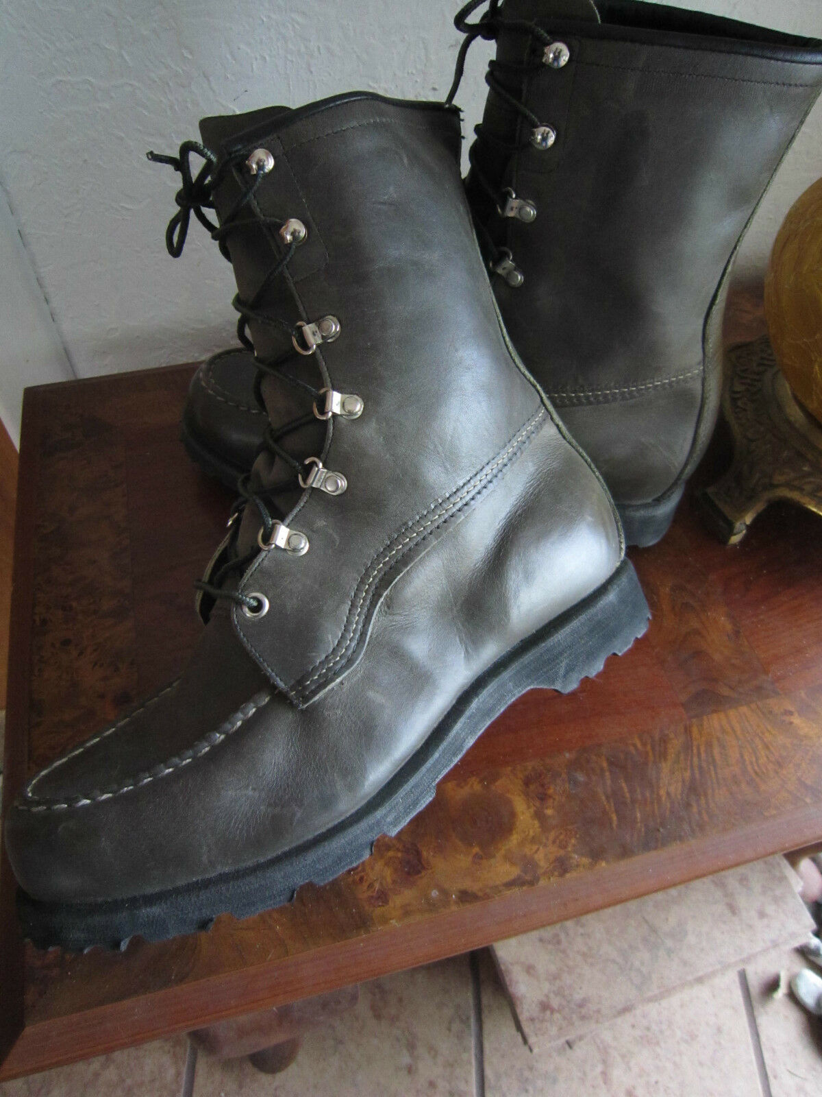 Unbelievable  SEARS TED WILLIAMS Hunting Boots-40+ yrs old NEVER WORN sz 9